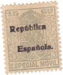 Sellos del Mundo : Europa : España : Especial móvil. República Española
