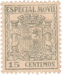Stamps Spain -  Escudo. Especial Movil
