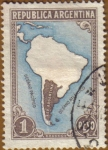 Stamps of the world : Argentina :  Mapa de Argentina