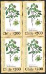 Stamps America - Chile -  PLANTAS MEDICINALES - QUILLAY