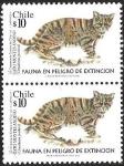 Stamps America - Chile -  GATO MONTES ANDINO - FAUNA EN PELIGRO DE EXTINCION