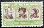 Sellos de America - Colombia -  VII Congreso de la Union Postal de la Americas y España. Belalcazar, Jimenea de Quesada y Balboa