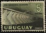 Sellos de America - Uruguay -  Usina hidroeléctrica de Baygorria en el Río Negro.