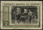 Stamps Uruguay -  100 años de la muerte del prócer. El general Artigas dictando las instrucciones del año 1813.