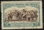 Sellos del Mundo : America : Uruguay : 100 años de la muerte del prócer. Éxodo del pueblo Oriental en 1811.