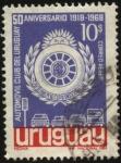 Stamps Uruguay -  50 años del Automóvil Club del Uruguay.