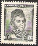 Stamps Chile -  BERNARDO OHIGGINS
