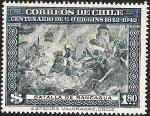 Stamps America - Chile -  CENTENARIO DE BERNARDO OHIGGINS - BATALLA DE RANCAGUA