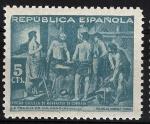 Sellos del Mundo : Europa : España : 29 Beneficencia. La fragua de Vulcano, de Velázquez.