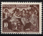 Stamps : Europe : Spain :  30 Beneficencia. Borrachos, de Velázquez.