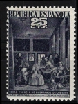 Sellos de Europa - España -  31 Beneficencia. Las Meninas, de Velázquez.