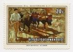 Stamps Rwanda -  50 me. Anniversaire O.I.T.