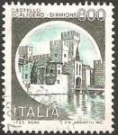 Stamps : Europe : Italy :  1452 - Castillo Scaligero-Sirmione de Brescia