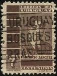 Sellos de America - Uruguay -  Florencio Sanchez. Dramaturgo y periodista uruguayo. 1875-1910.