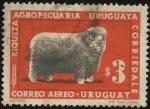 Sellos de America - Uruguay -  Riqueza agropecuaria uruguaya. Raza ovina Corriedale.