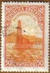 Stamps America - Argentina -  Pozo de Petroleo en el mar