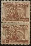 Sellos de America - Uruguay -  100 años del Instituto Histórico Geográfico uruguayo.