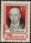 Sellos de America - Uruguay -  El Dr. Baltasar Brum, Presidente de la República entre los años 1919 y 1923. Se suicidó en 1933 ante