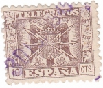 Stamps Europe - Spain -  Telegrafos. Escudo de España
