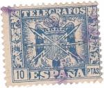 Stamps Spain -  Telegrafos. Escudo de España