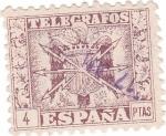 Sellos del Mundo : Europa : España : Telegrafos. Escudo de España