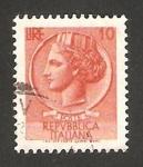 Stamps : Europe : Italy :  moneda siracusana