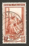 Stamps Italy -  581 - Recogida de naranjas (con filigrana A)
