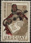 Stamps of the world : Uruguay :  Bartolomé Hidalgo 1788-1822. Poeta de la Patria vieja. Fundador de la lírica gauchesca.
