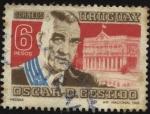 Sellos de America - Uruguay -  Presidente de la República Oscar D. Gestido.