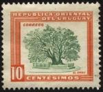 Stamps America - Uruguay -  Flora uruguaya, motivos nacionales. Árbol de Ombú.