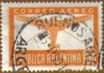 Stamps America - Argentina -  Avion y sobre