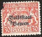Sellos de Europa - Alemania -  BAYERN - DIENSTMARKE