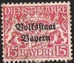Sellos del Mundo : Europa : Alemania : BAYERN - DIENSTMARKE
