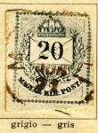 Sellos de Europa - Hungría -  Magyar Kir, edicion 1874