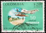 Stamps Colombia -  50 Años de Avianca