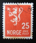 Stamps Europe - Norway -  Leon Rampante. Correo postal