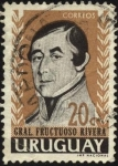 Sellos de America - Uruguay -  General Fructuoso Rivera.