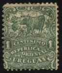 Sellos de America - Uruguay -  Arreo de animales vacunos.