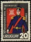 Sellos de America - Uruguay -  50 años del arma de Ingenieros.