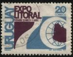 Stamps Uruguay -  Expo Litoral ciudad de Paysandú año 1971.