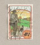 Stamps New Zealand -  Fanfarrón años 20