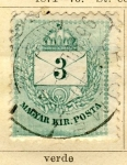 Sellos del Mundo : Europa : Hungría : Magyar Kir, edicion 1874