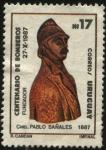 Stamps Uruguay -  100 años de la creación del cuerpo de bomberos de Montevideo. Cnel Pablo Bañales primer jefe de bomb