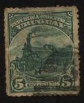 Stamps America - Uruguay -  La primera locomotora en Uruguay.