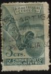 Sellos de America - Uruguay -  4to. campeonato mundial de futbol Brasil 1950.