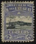 Stamps America - Uruguay -  Vista de la bahía y del cerro de Montevideo.