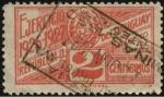 Sellos de America - Uruguay -  Timbre impuesto 1926. Escudo nacional.