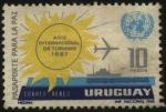 Stamps Uruguay -  Emblema de la ONU. 1967 año internacional de turismo. Pasaporte para la Paz.