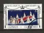 Sellos de America - Granada -  25 Aniversario de la Coronacion de Isabel II de Inglaterra.