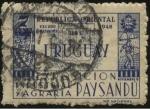 Sellos del Mundo : America : Uruguay : Exposición industrial y agraria de Paysandú año 1948. Escudo departamental de Paysandú.